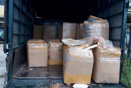 Phát hiện xe tải chở 2,4 tấn nội tạng động vật đi tiêu thụ