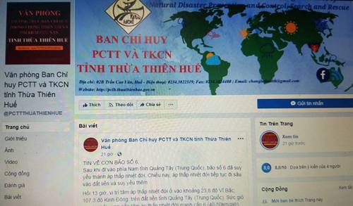 Thừa Thiên Huế cảnh báo mưa lũ qua mạng xã hội