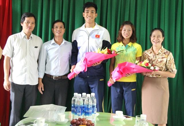 Đón và chúc mừng 2 VĐV Huế giành HCV tại SEA Games 29