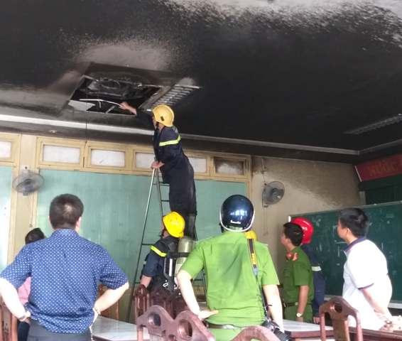 Điều tra, làm rõ nguyên nhân cháy tại Trường Đại học Y Dược Huế