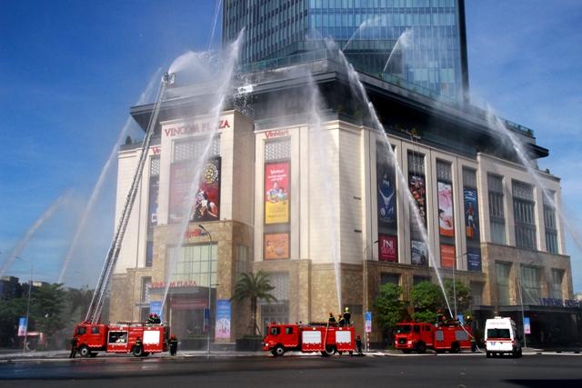 Diễn tập phương án phòng cháy, chữa cháy và cứu nạn cứu hộ quy mô lớn