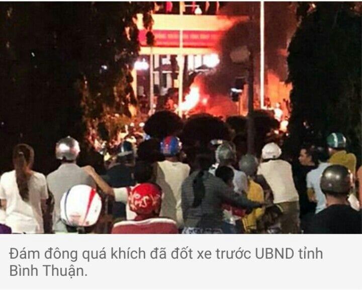 Điều tra, xử lí các đối tượng côn đồ, quá khích ở Bình Thuận