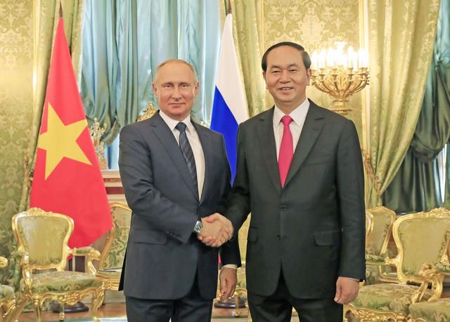 Một số hình ảnh Chủ tịch nước Trần Đại Quang và các nhà lãnh đạo thế giới