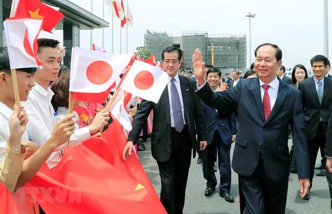 Nhật Bản đón Chủ tịch nước Trần Đại Quang bằng nghi thức cấp cao nhất