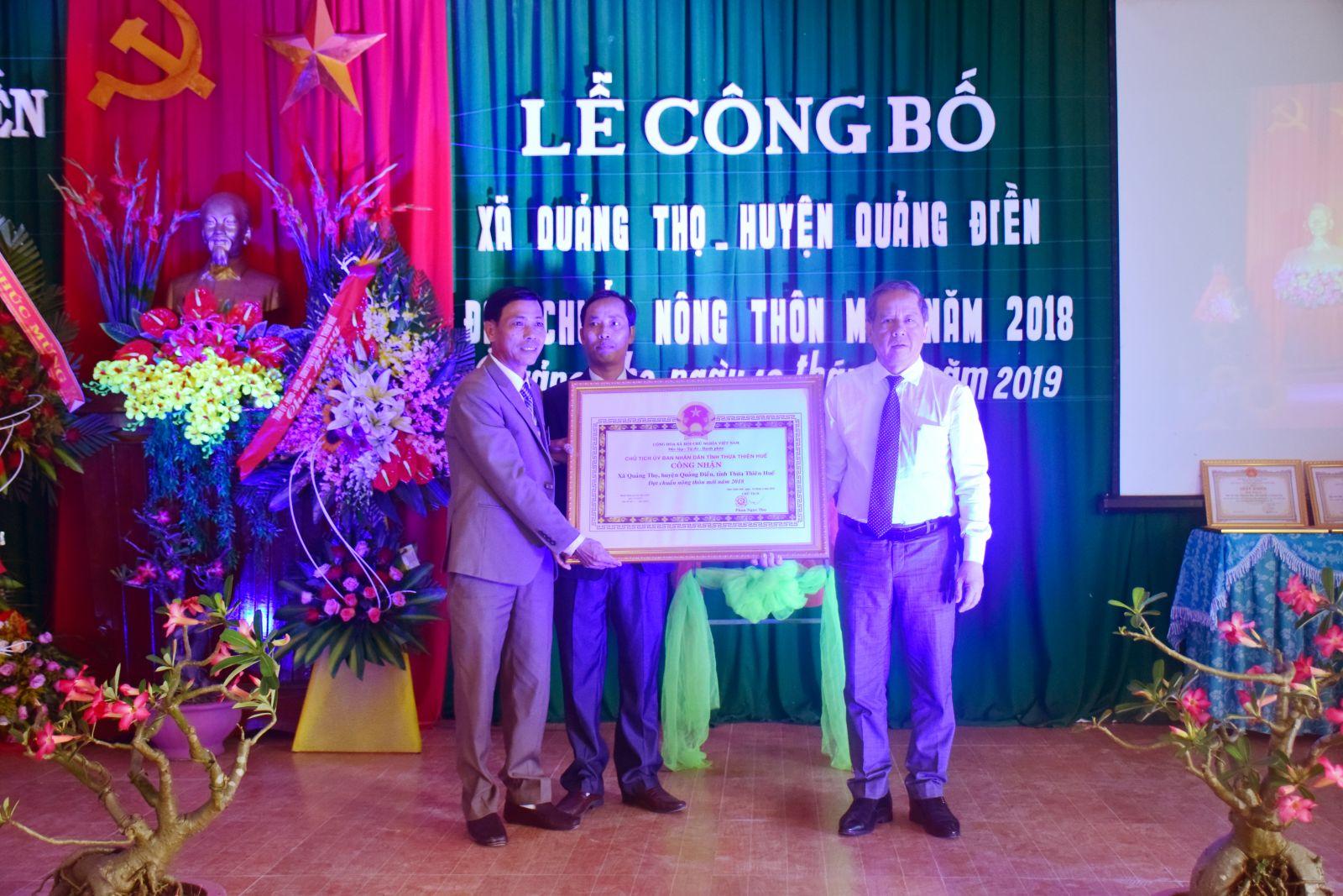Xã Quảng Thọ đạt chuẩn nông thôn mới