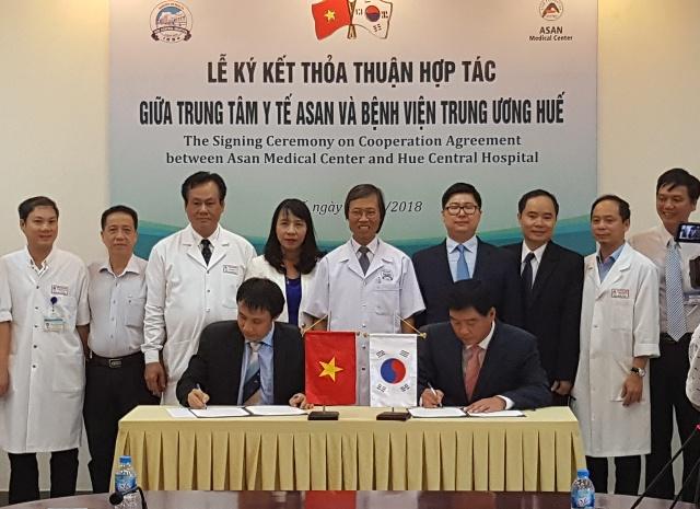 Bệnh viện Trung ương Huế ký kết hợp tác chương trình ghép gan với Trung tâm Y tế ASAN
