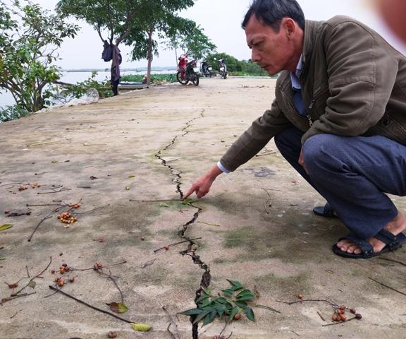 Nhiều tuyến đê Quảng Thái bị sạt lở sau mưa lớn