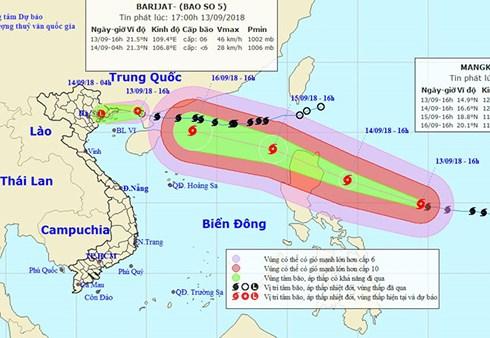 70% siêu bão Mangkhut đổ bộ vào Việt Nam