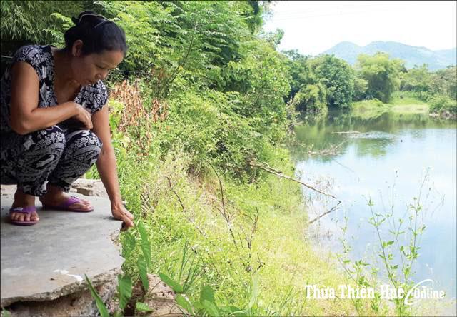 75 hộ dân xã Lộc Thủy bị sạt lở đe dọa