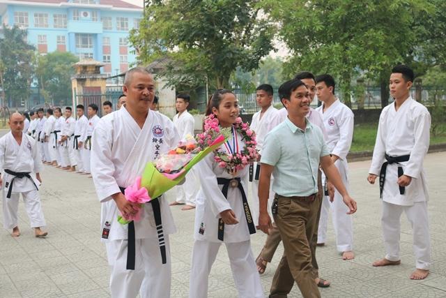 Chúc mừng nữ VĐV Karatedo Huế giành thành tích ở giải quốc tế