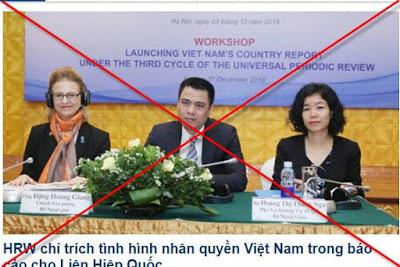 HRW lại xuyên tạc, vu cáo Việt Nam