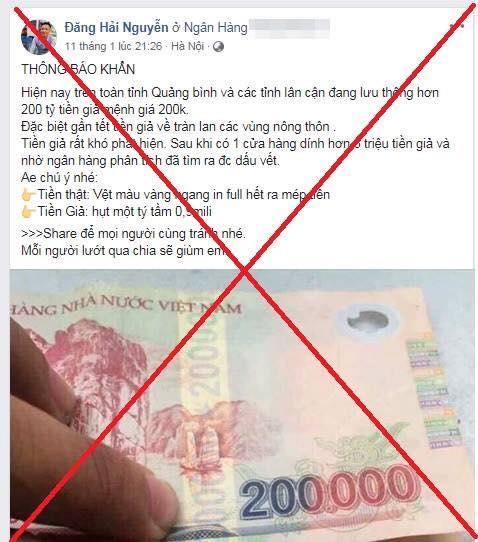 Bắt kẻ tungtin đồn thất thiệt 200 tỉ tiền giả tại Quảng Bình