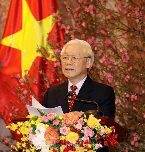 Tổng Bí thư, Chủ tịch nước Nguyễn Phú Trọng: Đất nước bước vào mùa Xuân mới với tâm thế và quyết tâm lớn