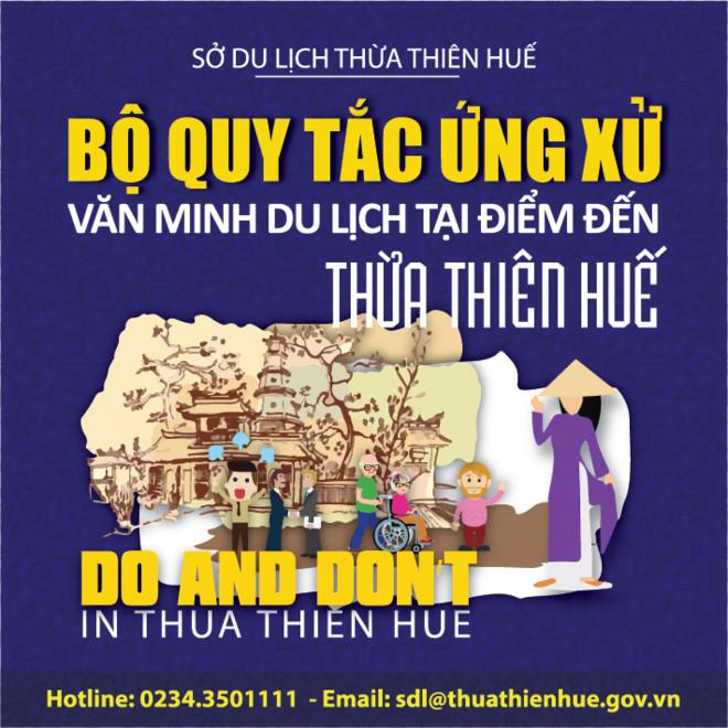 Thừa Thiên Huế ban hành Bộ quy tắc Ứng xử văn minh du lịch trên địa bàn tỉnh