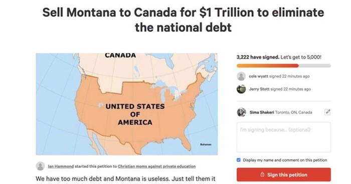 Nợ công cao, hàng ngàn người Mỹ đòi… bán bang Montana cho Canada