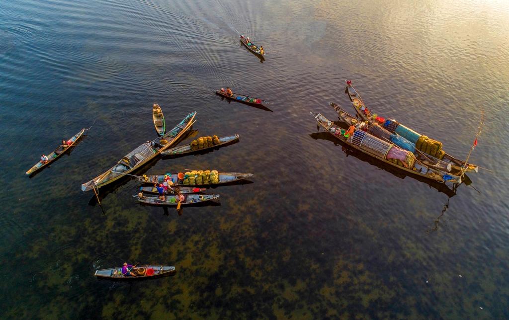 Sớm mai trên phá Tam Giang