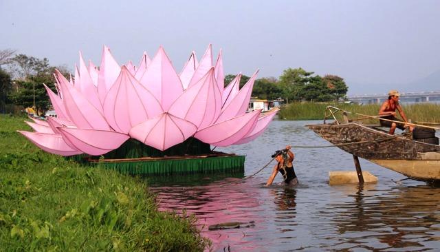 Hạ thủy hoa sen mừng Đại lễ Phật đản Phật lịch 2563
