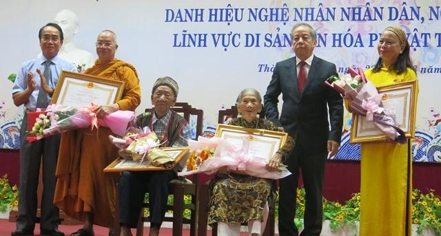 17 nghệ nhân được trao tặng danh hiệu Nghệ nhân Nhân dân, Nghệ nhân Ưu tú