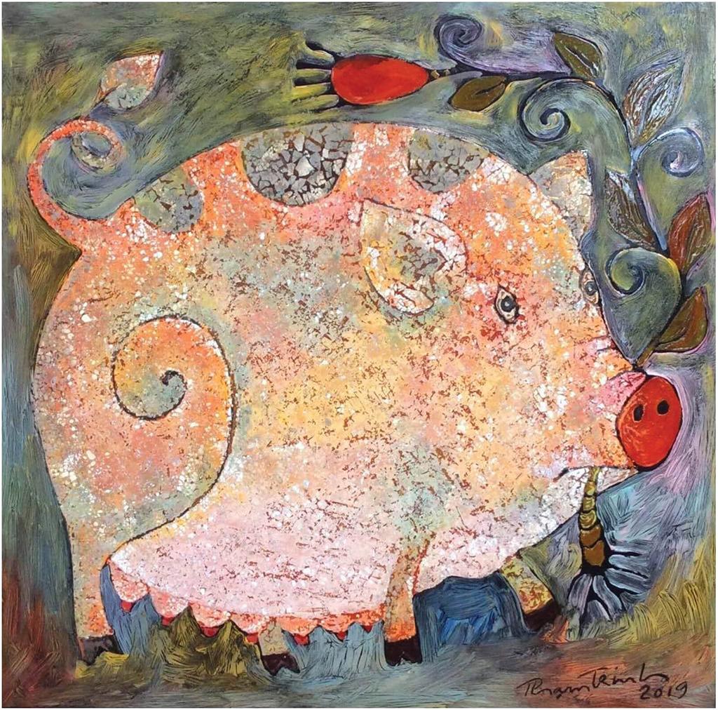 Năm hợi xem vẽ lợn